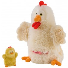 Trudi Puppet Hen with Chick Soft Toy