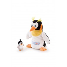 Trudi Puppet Penguin with Baby Soft Toy
