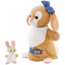 Trudi Puppet Rabbit with Baby Soft Toy